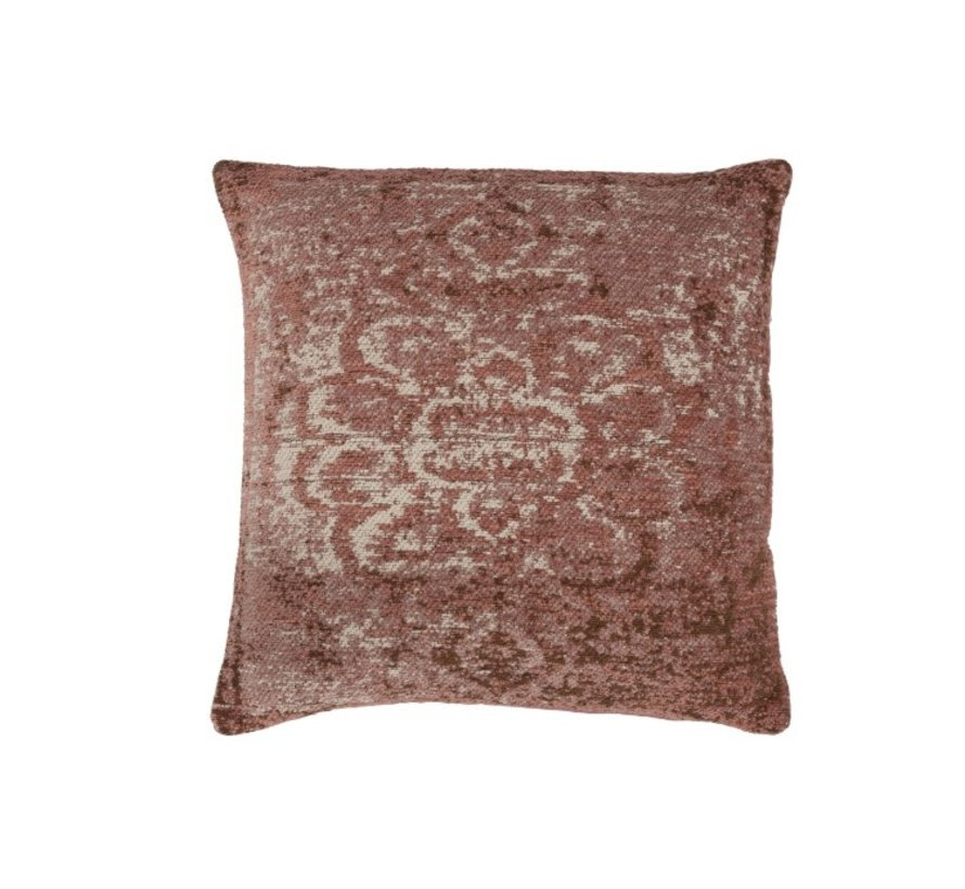 Cushion Cotton Square Faded Print - Pink