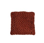 J-Line  Cushion Square Knitted Textile - Red