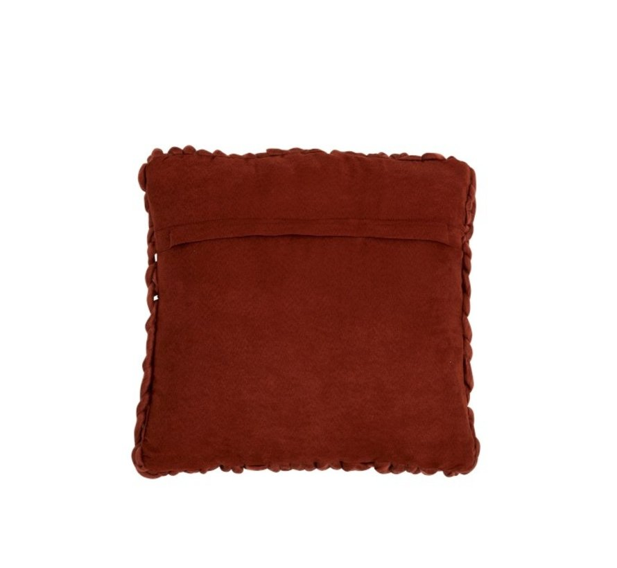 Cushion Square Knitted Textile - Red