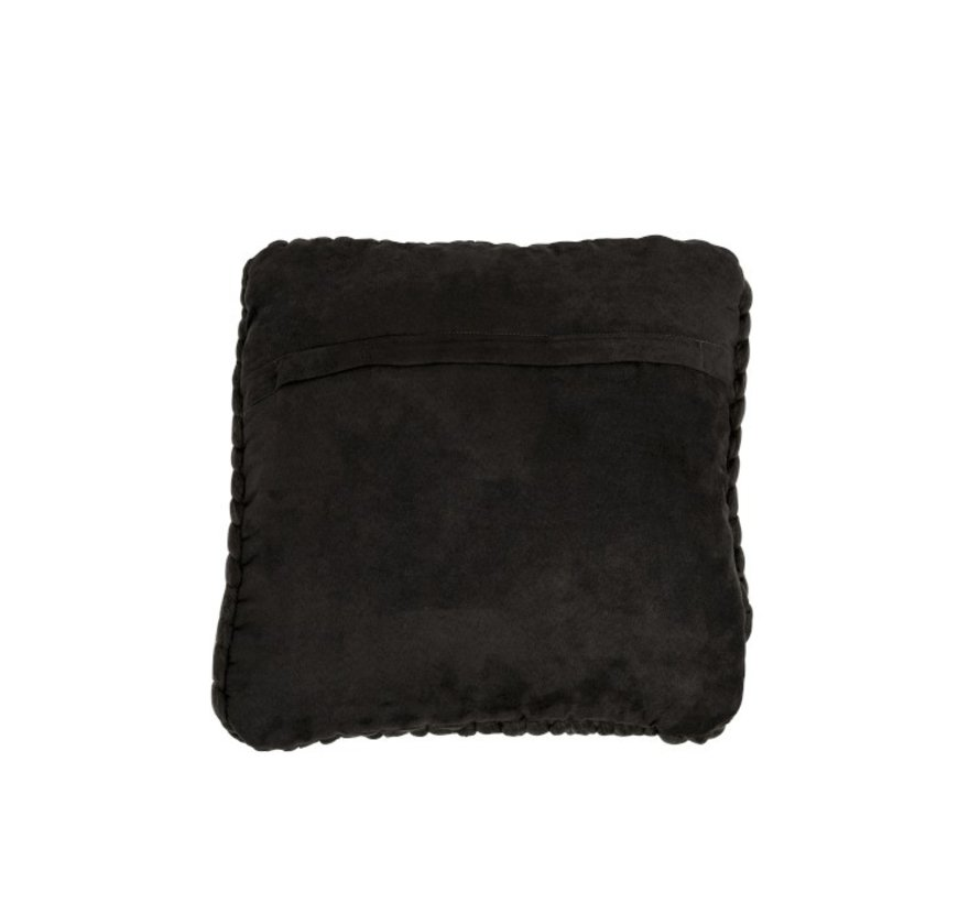 Cushion Square Knitted Textile - Dark Gray