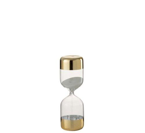 J-Line Hourglass Glass Cylinder Gold Transparent - Large