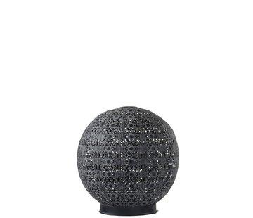 J-Line Table lamp Led Ball Oriental Metal Black Washed White - Large