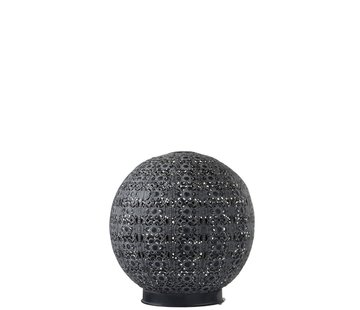 J -Line Table lamp Led Ball Oriental Metal Black Washed White - Large