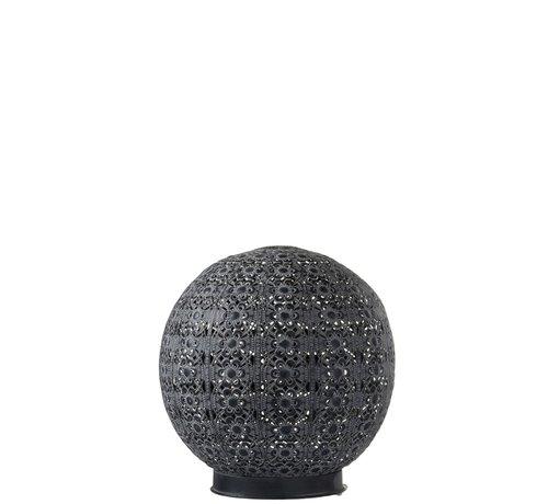 J -Line Table lamp Led Ball Oriental Metal Black Washed White - Large