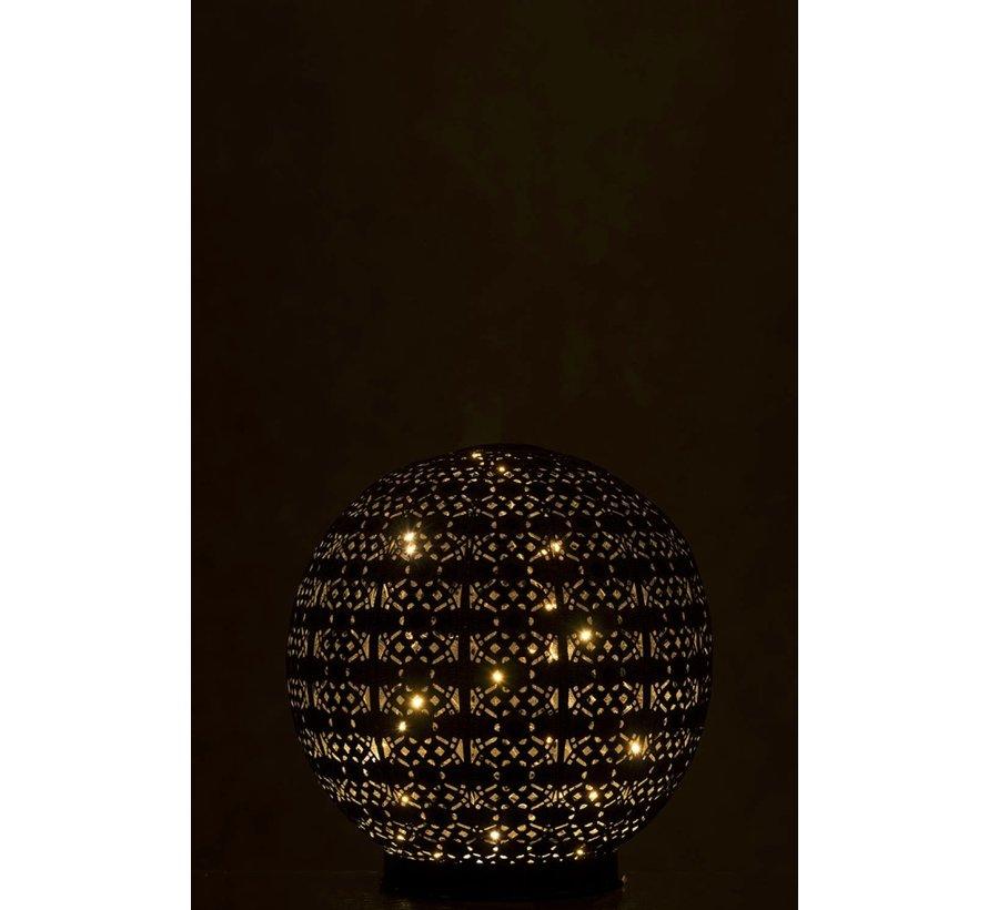 Table lamp Led Ball Oriental Metal Black Washed White - Large
