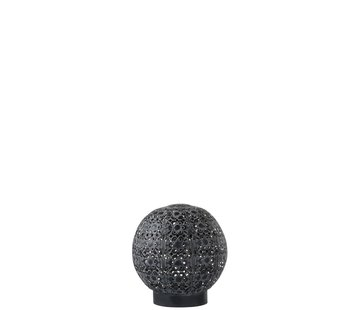 J -Line Table lamp Led Ball Oriental Metal Black Washed White - Small