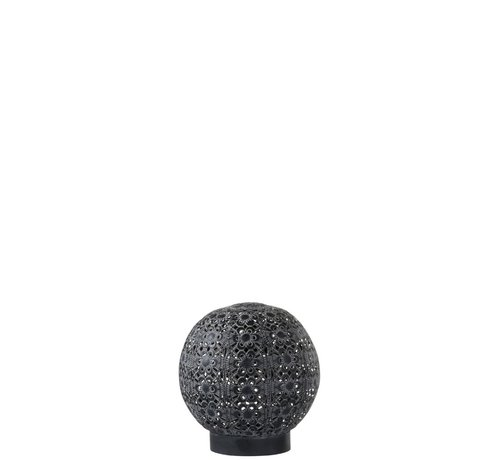J-Line Table lamp Led Ball Oriental Metal Black Washed White - Small