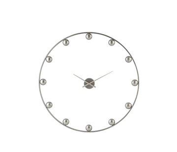J -Line Wall Clock Round Metal Balls Gray - Large