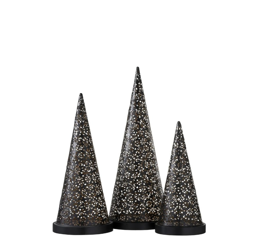 Table lamp Led Cone Battery Metal Black - Large