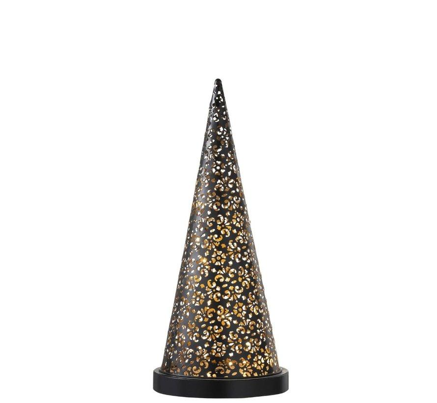 Table lamp Led Cone Battery Metal Black - Medium