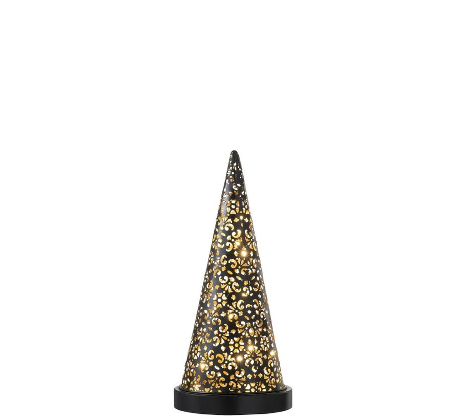 Table lamp Led Cone Battery Metal Black - Small