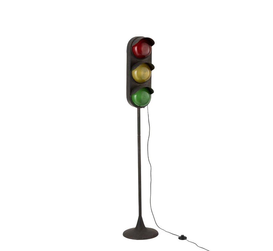 Floor Lamp Traffic Light Metal Black - Small