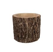 J -Line Flowerpot Round Bark Dark Brown - Large