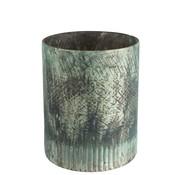 J -Line Tealight holder Glass Cylinder Blue Azure - Large
