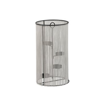J -Line Theelichthouder Cilinder Metaal ketting Zilver - Large