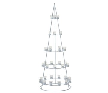 J -Line Tealight holder Boom Metal Glass White - Extra Large