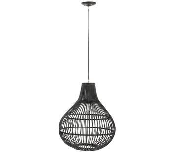 J -Line Hanglamp Rotan Spijlen Druppel - Zwart
