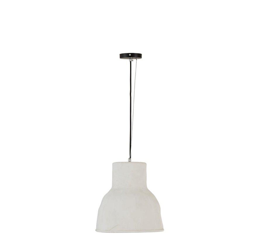 Hanging lamp Round Pottery White - Large