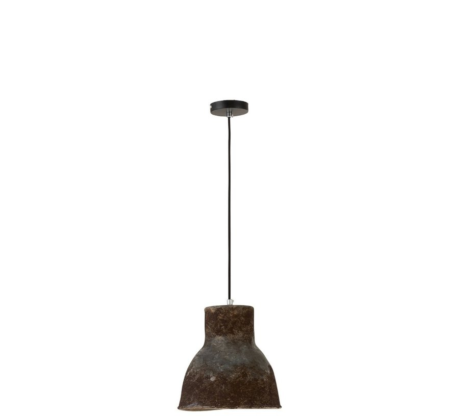 Hanging lamp Round Pottery Brown - Small