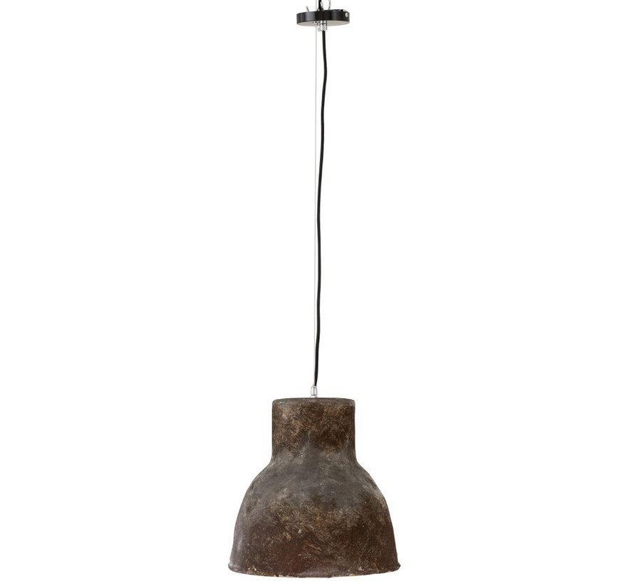 Hanging lamp Round Pottery Brown - Large