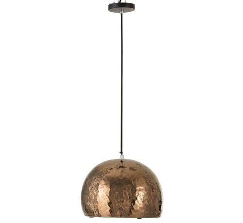 J-Line Hanglamp Aardewerk Halve Bol Brons - Large