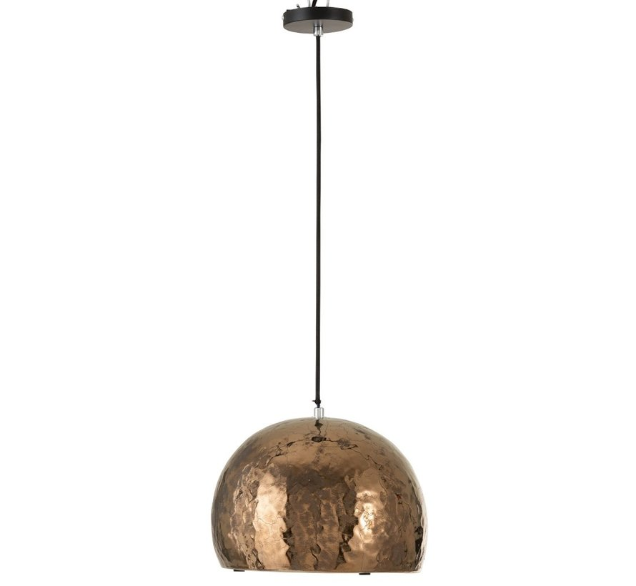 Hanging Lamp Pottery Half Globe Bronze - Large