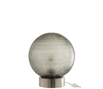 J -Line Table lamp Glass Ball Transparent - Silver