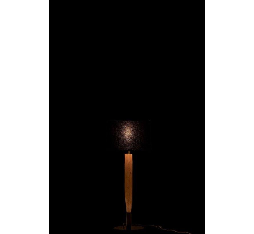Table lamp Branch Eucalyptus Wood Natural - Black
