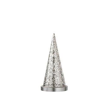 J -Line Tafellamp kegel Metaal Led zilver - Small