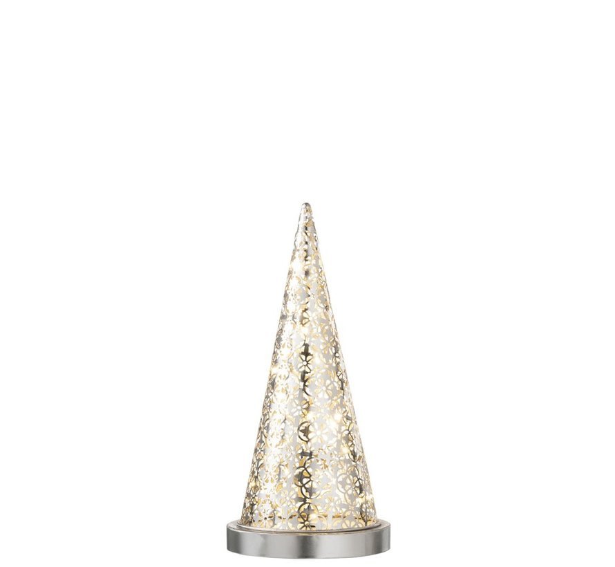 Table lamp cone Metal Led silver - Small
