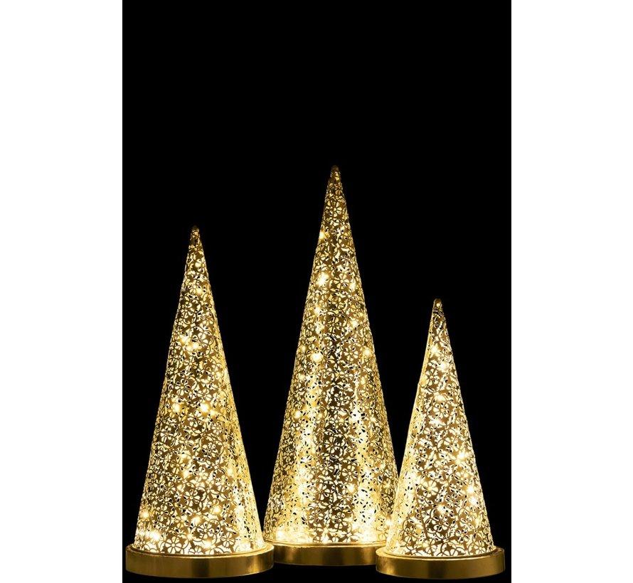 Table lamp cone Metal Led silver - Medium