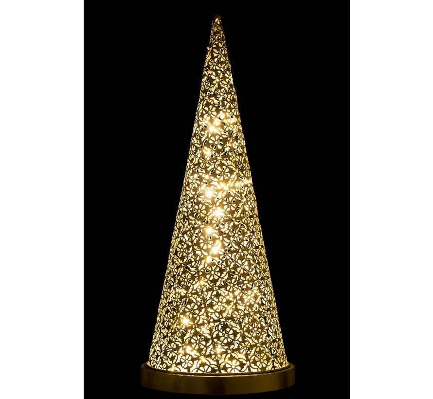 Table lamp cone Metal Led silver - Large
