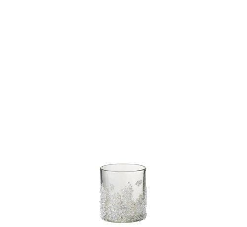 J -Line Theelichthouder Suikerglas Oneffen Transparant - Small
