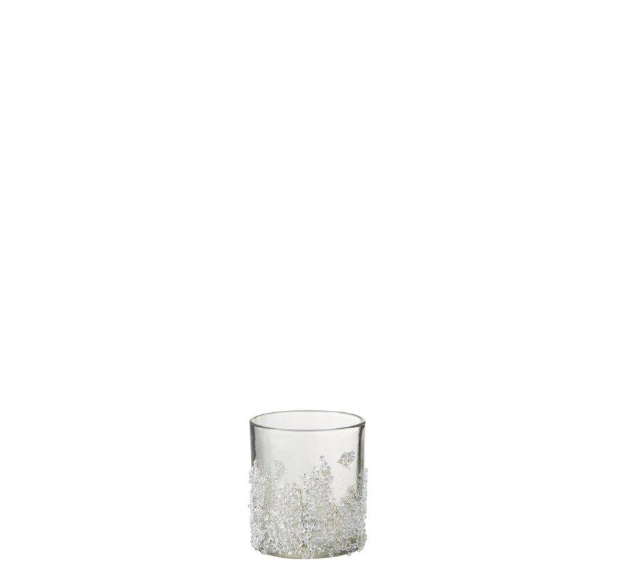 Theelichthouder Suikerglas Oneffen Transparant - Small