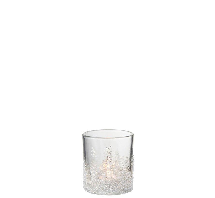 Theelichthouder Suikerglas Oneffen Transparant - Medium