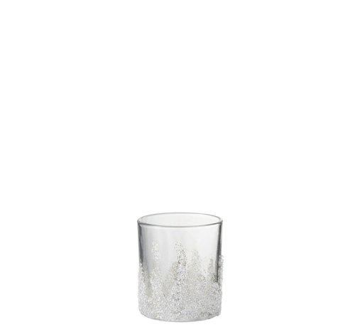 J -Line Theelichthouder Suikerglas Oneffen Transparant - Medium
