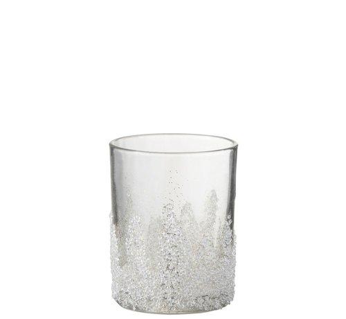 J -Line Theelichthouder Suikerglas Oneffen Transparant - Large