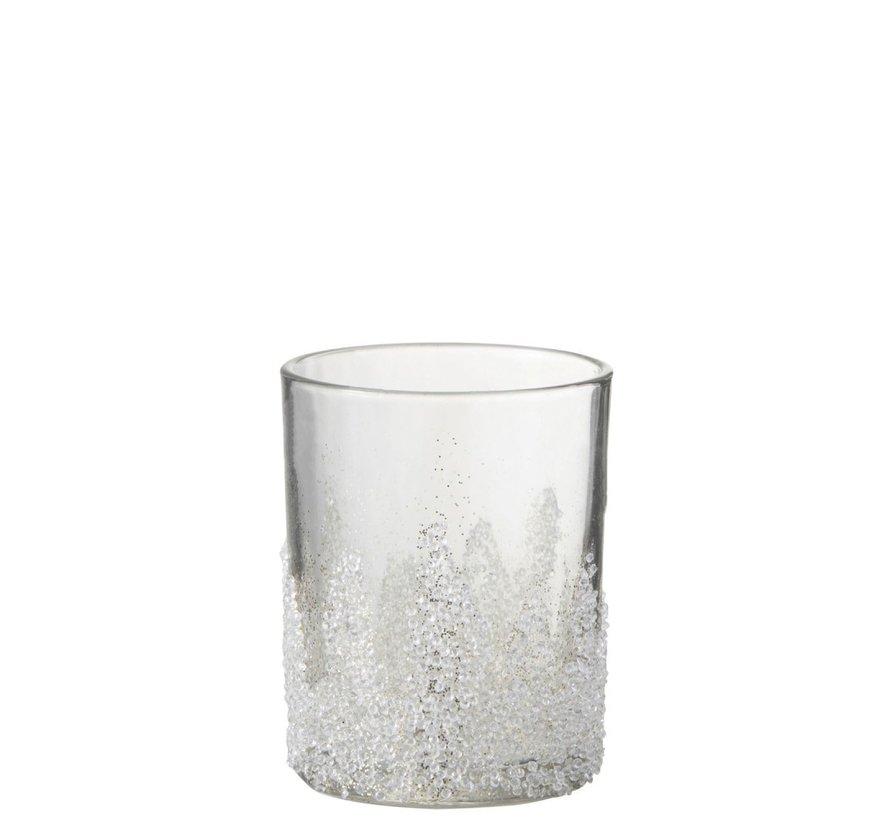 Theelichthouder Suikerglas Oneffen Transparant - Large