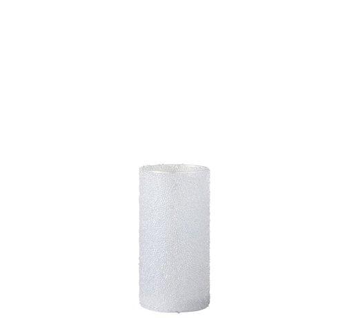 J -Line Tealight holder Led Cylinder Sugar glass White - Medium