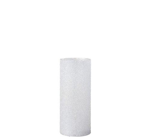 J -Line Theelichthouder Led Cilinder Suikerglas Wit - Large