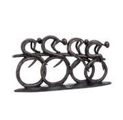 J-Line Decoration Sculptures Cyclists Polyester - Dark Brown