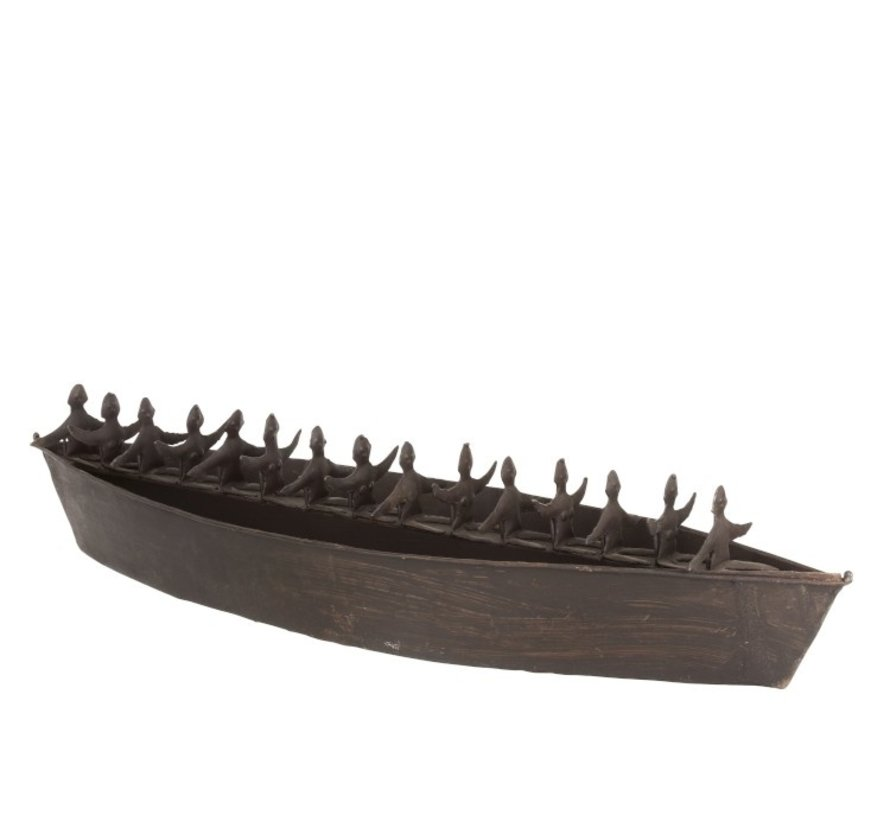 Decoratie Boot Figuren Metaal Gypsy - Zwart