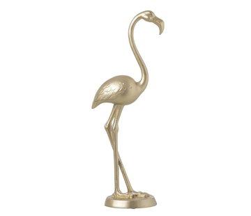 J -Line Decoratie Figuur Flamingo Poly Goud - Large