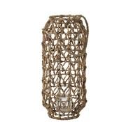 J -Line Lantern Cylinder Textured Grass Natural Brown - Large