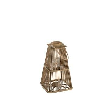 J-Line Lantaarn Toren Bamboo Natuurlijk Bruin - Large