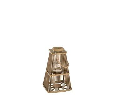 J -Line Lantaarn Toren Bamboo Natuurlijk Bruin - Small