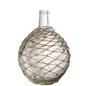 J-Line Flessen Vaas Glas Netten Transparant - Zand