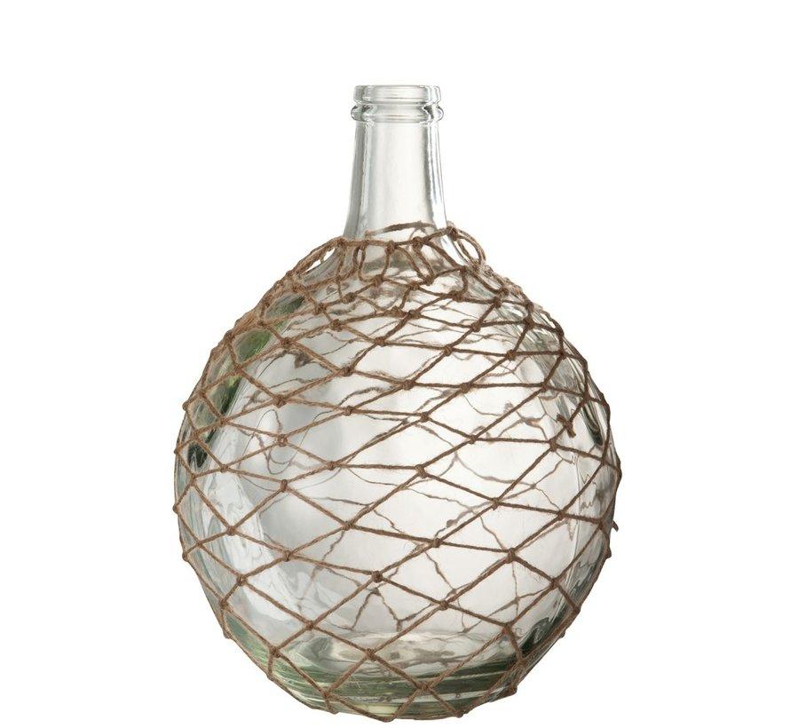 Bottles Vase Glass Nets Transparent - Sand