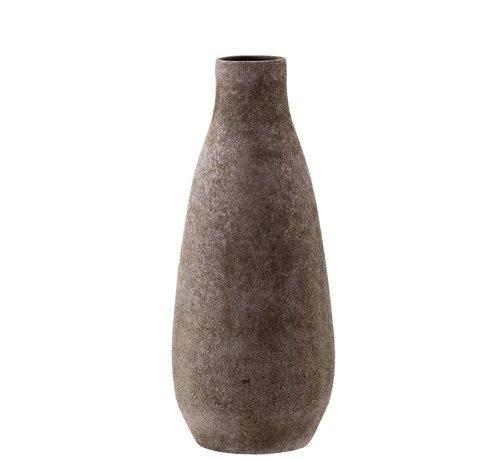 J -Line Bottles Vase Ceramic Rustic Brown Pink - Large