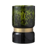 J -Line Vaas Cilinder Gespikkeld Groen Zwart Goud - large